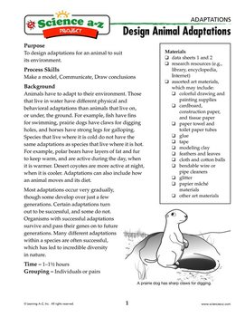 Science A-Z Adaptations Grades 5-6 Life Science Unit