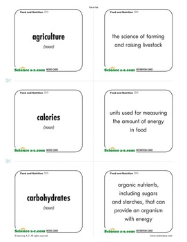 science terms and definitions a-z