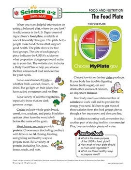 Science A-Z Food & Nutrition Grades 5-6 Life Science Unit