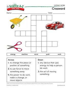 Science A-Z Word Work Puzzles and Activities