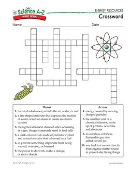 Science A-Z Energy Resources Grades 5-6 Science Unit