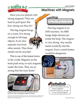Science A-Z Machines Grades 3-4 Physical Science Unit
