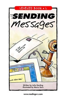Sending Messages - Reading A–Z Leveled Book