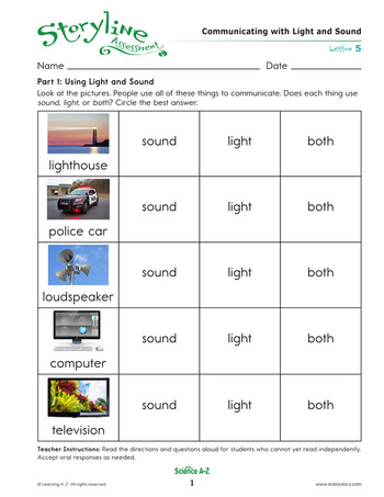 Communicating with Light and Sound Assessment